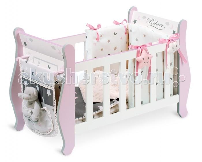Картинка для Кроватка для куклы DeCuevas серии Скай 63 см