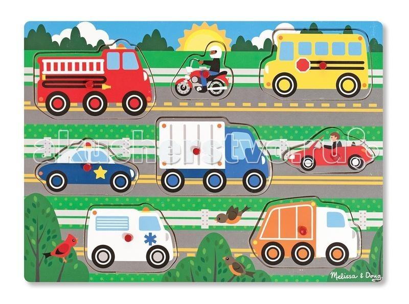 Пазлы Melissa & Doug Мои первые пазлы Транспорт первые пазлы малыша 80 деталей
