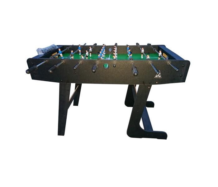 DFC Игровой стол Футбол St PauliНастольные игры<br>DFC Игровой стол Футбол St Pauli  Представляем новую модель игрового стола - футбол St.PAULI от популярного бренда DFC.  Настольный футбол (или кикер) идеально подойдет для веселого времяпровождения.   Строгий дизайн стола подойдет к любому интерьеру игровой комнаты, а малые размеры и складная конструкция стола позволят разместить его даже в небольшом помещении.   Прочная конструкция обеспечит высокую надежность даже при сильных нагрузках.   Стол подойдет как любителям развлечься, так и профессионалам в игре.  В комплекте: 2 мяча размером 31 мм.  Размеры: 121 х 61 х 79 см