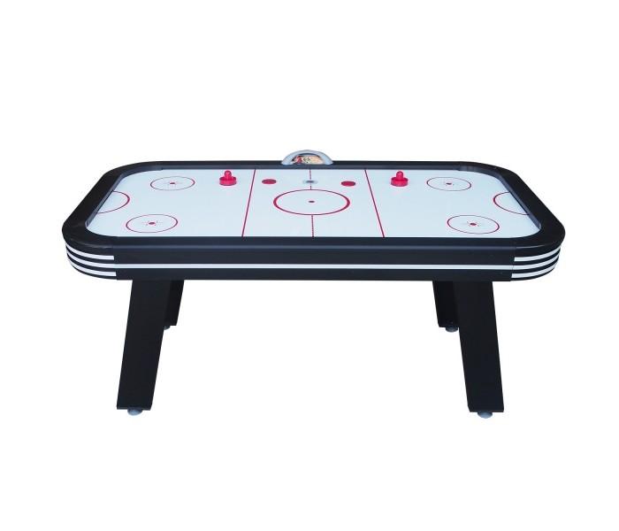 DFC Игровой стол Аэрохоккей VegasНастольные игры<br>DFC Игровой стол Аэрохоккей Vegas будет не только отличной покупкой для себя, но и прекрасным подарком. Игра в настольный хоккей очень эмоциональная, захватывающая и проходит на больших скоростях. Почувствуйте звуки и атмосферу знаменитой и популярной игры! Настольный хоккей является отличным развлечением дома или на даче.  Аэрохоккей Vegas оборудован электронным табло для подсчета очков.  Мощный компрессор подает воздух через отверстия по всей поверхности стола.  Комплектуется набором аксессуаров: 2 биты и 2 шайбы красного цвета.  Дополнительно: 2 шайбы со светодиодной (Led) подсветкой.  Напряжение: 220В (через адаптер)  Размеры: 183 х 102 х 79 см