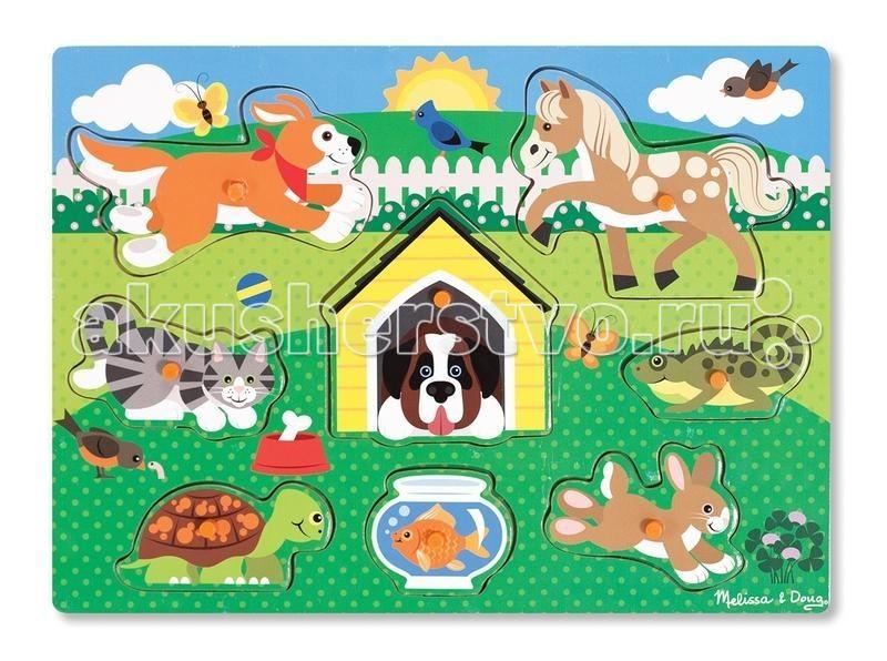 Пазлы Melissa & Doug Мои первые пазлы Домашние животные пазлы русский стиль макси пазлы африканские животные