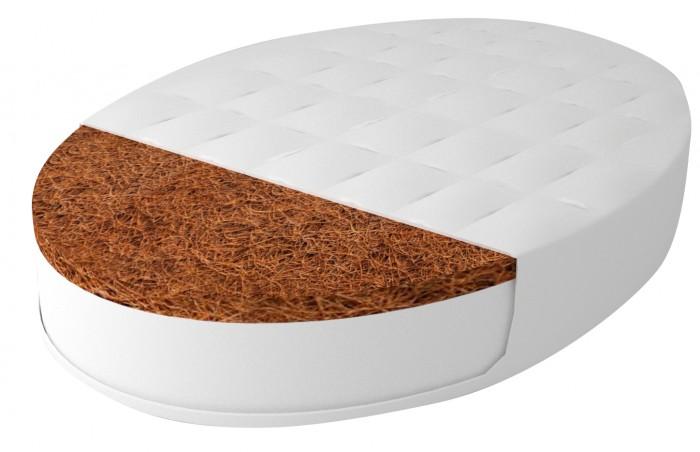 Матрас Forest для овальной кроватки Дрема Софт Дрим 125х75х12 смМатрасы<br>Матрас для овальной кроватки Дрема Софт Дрим 125х75х12 см в основе матраса холлофайбер , который не впитывает влагу и запахи, отлично циркулирует воздух, обеспечивает упругость, восстанавливаемость. С одной стороны поверх холлофайбера используется пласт кокосовой койры толщиной 2 см, придающий матрасу жесткость, рекомендованную врачами-педиатрами новорожденному ребенку.   Сторона А - 10 см холлофайбер  Сторона Б - 2 см холлофайбер  Съемныи#774; чехол жаккард на молнии