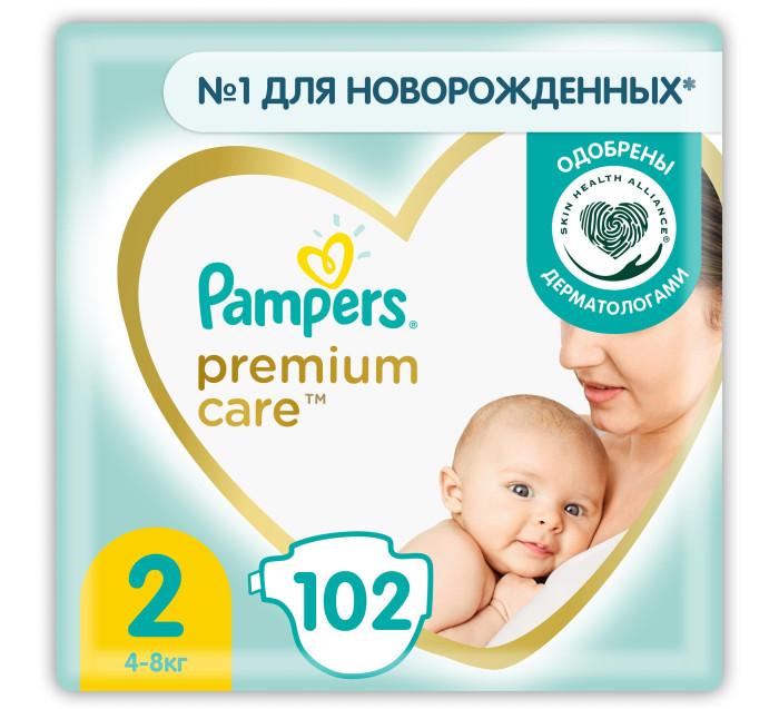 Pampers Подгузники Premium Care Mini 2р. (4-8кг) 102 шт.