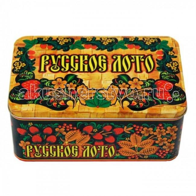 Настольные игры Мировые ХИТы Русское лото в жестяной коробке кроссовки лото купить в донецке