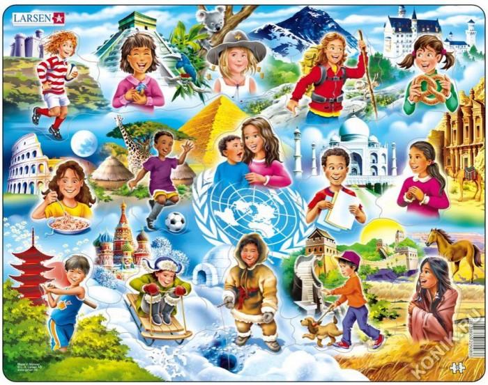 Картинка для Larsen Пазл Дети разных национальностей