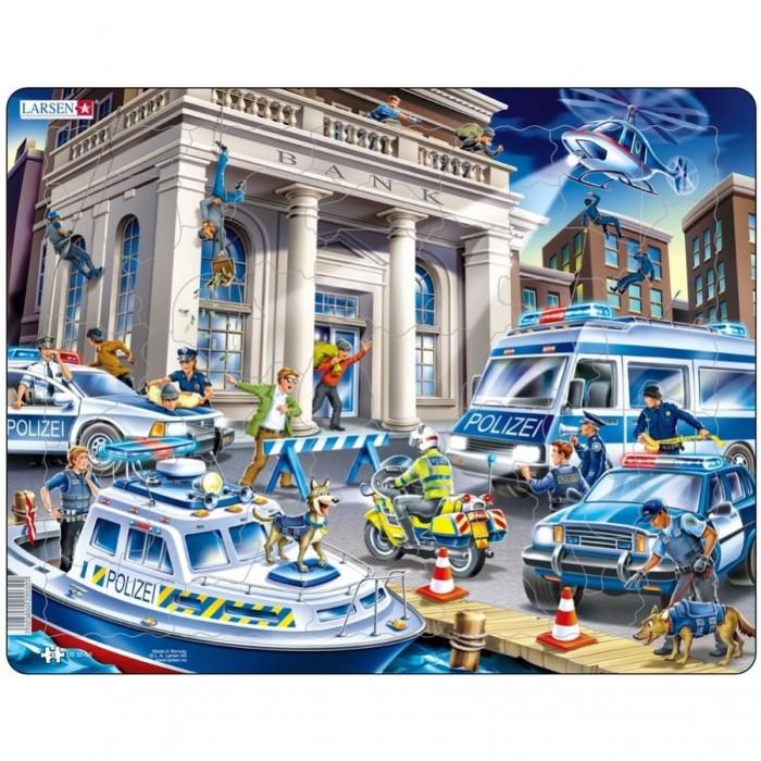 Картинка для Larsen Пазл Полицейские машины