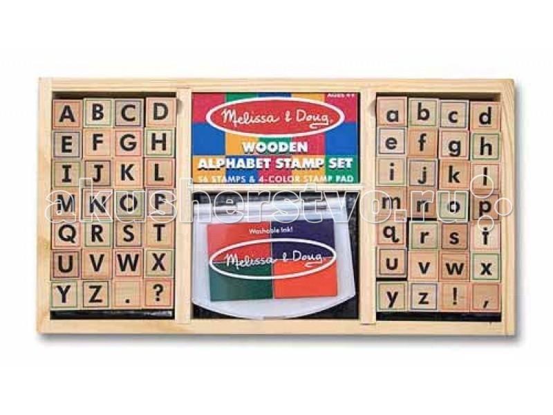 Развитие и школа , Принадлежности для рисования Melissa & Doug Набор печатей  алфавит арт: 61673 -  Принадлежности для рисования