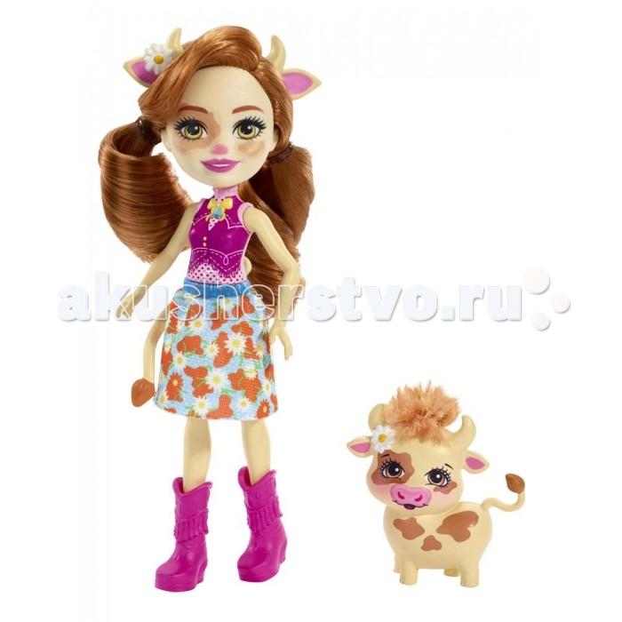 Купить Куклы и одежда для кукол, Enchantimals Кукла с питомцем Коровка Кэйли 15 см