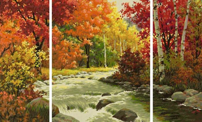 Schipper Триптих Осенний поток 50х80 см