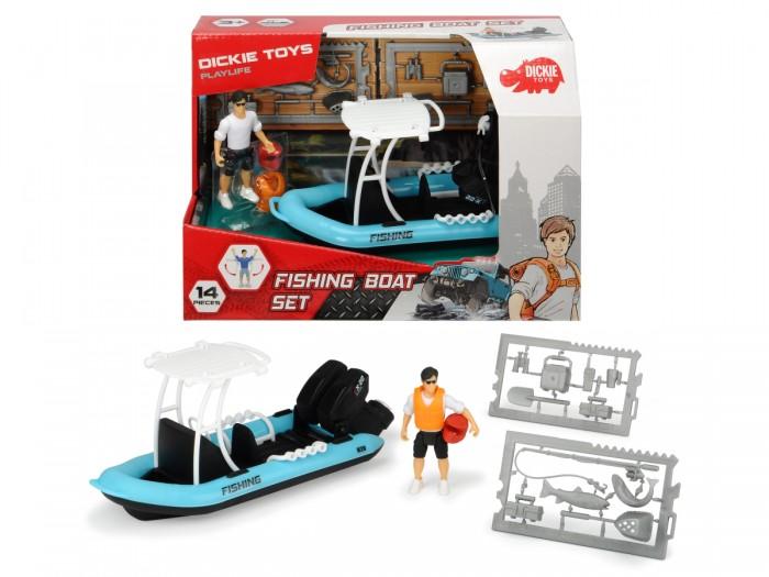 Купить Игровые наборы, Dickie Рыбацкая лодка серии PlayLife с фигуркой и аксессуарами