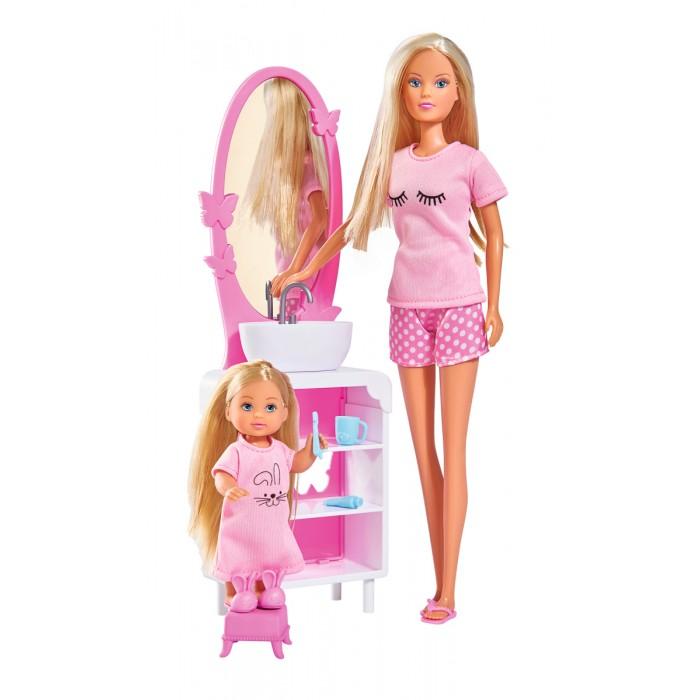 Куклы и одежда для кукол Simba Куклы Штеффи и Еви Время умываться куклы и одежда для кукол bertoni lorelli кукла isabella
