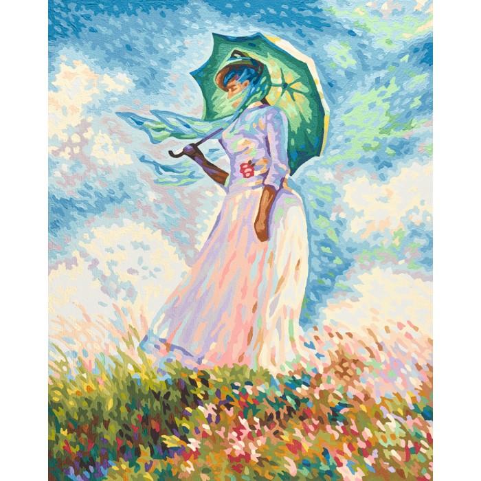 Купить Картины по номерам, Schipper Репродукция Дама с зонтиком Клод Моне