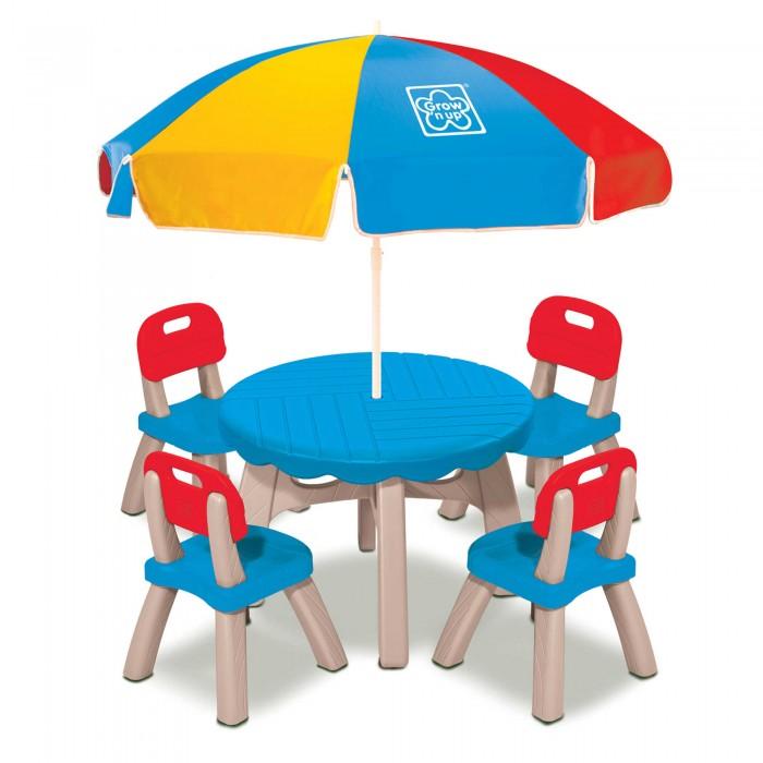 Grown up Летний набор (столик, 4 стула, зонт)