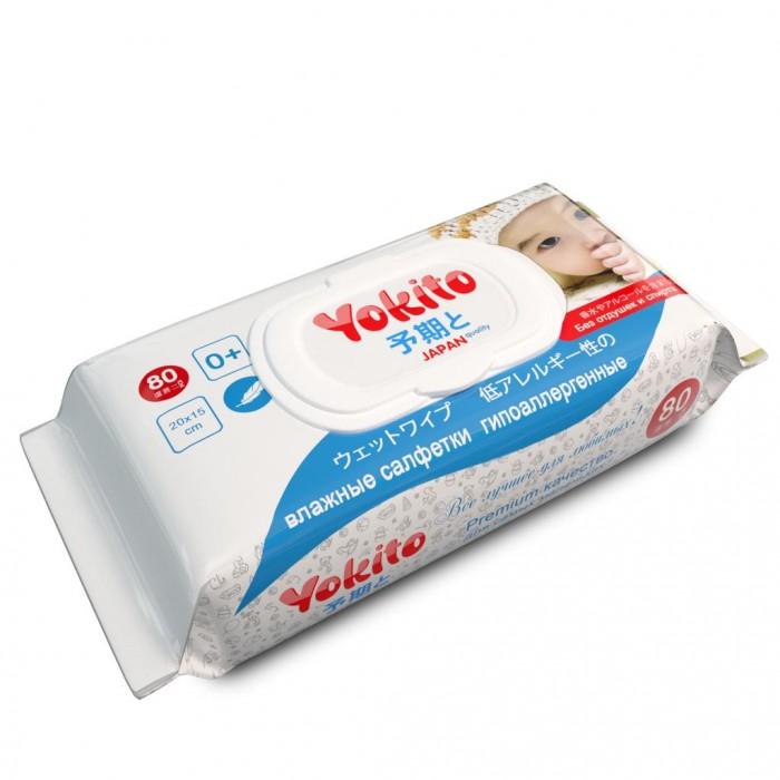 Салфетки Yokito Влажные салфетки детские Premium 80 шт.