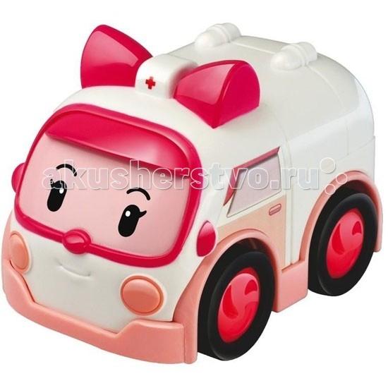 Машины Робокар Поли (Robocar Poli) Машинка скорой помощи Эмбер 6 см robocar игрушка металл машина марк поли 6 см robocar