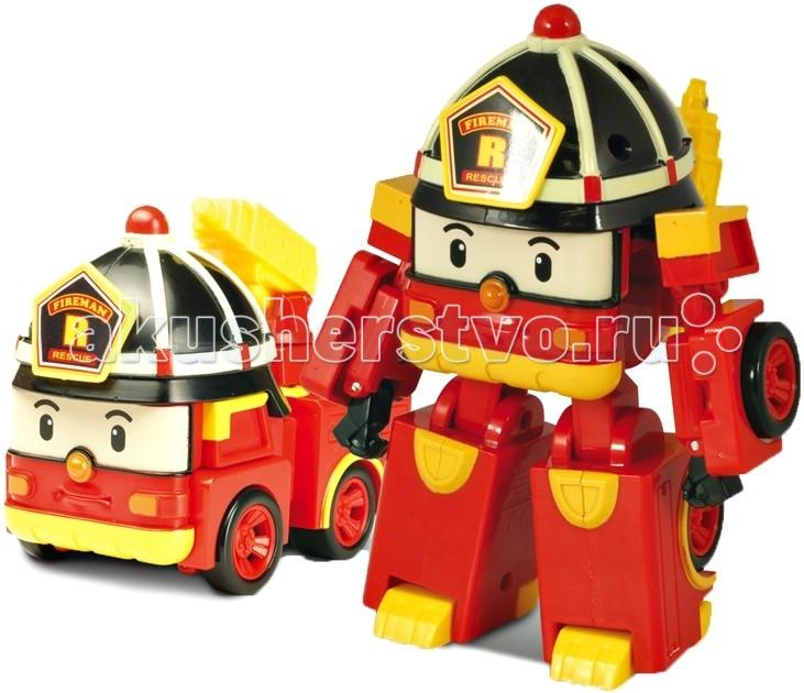 Машины Робокар Поли (Robocar Poli) Пожарная машина Рой трансформер 7,5 см robocar игрушка металл машина марк поли 6 см robocar