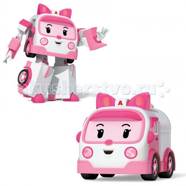 Машины Робокар Поли (Robocar Poli) Машинка скорой помощи Эмбер трансформер 7,5 см машины robocar poli машинка скорой помощи эмбер 6 см