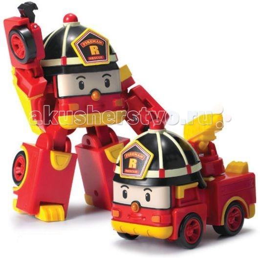 Картинка для Робокар Поли (Robocar Poli) Пожарная машина Рой трансформер 12,5 см свет + инструменты
