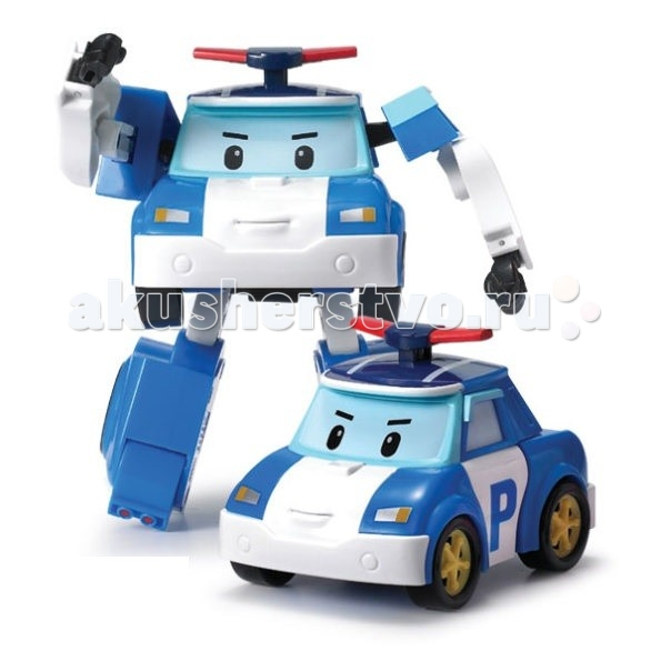 Машины Робокар Поли (Robocar Poli) Полицейская машина Поли трансформер 12,5 см свет + инструменты wireless restaurant pager waiter guest calling system pager and receiver 18 push to call button and 2 watch pager free shipping