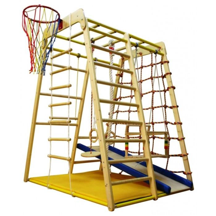 Спортивные комплексы Вертикаль Детский спортивный комплекс Весёлый Малыш Wood горка мягкий бортик