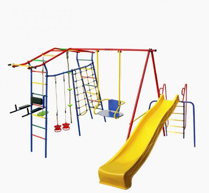 Купить Спортивные комплексы, КМС Детский комплекс Игромания-5 Фитнесс дачный с горкой КМС-425