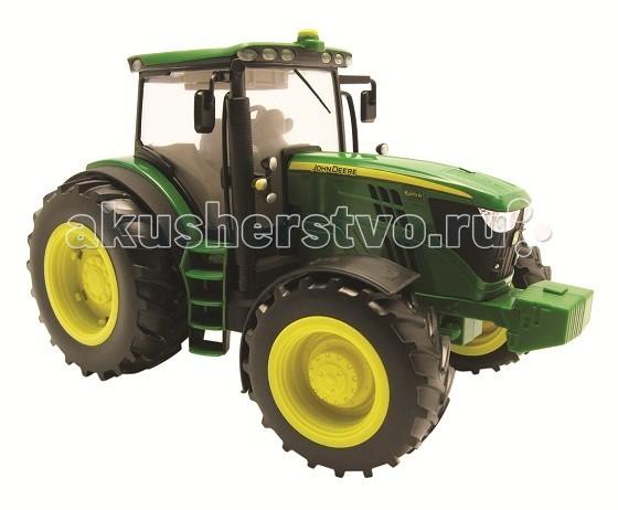 Машины Tomy Трактор John Deere 6210R tomy farm приключения трактора джонни и поросенка на ферме