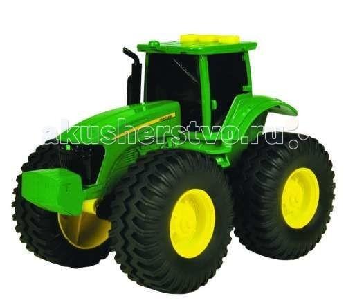 Машины Tomy Трактор с большими колесами с подсветкой и звуком машины tomy трактор john deere monster treads с большими резиновыми колесами