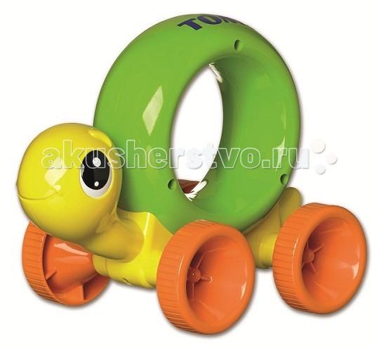 Каталки-игрушки Tomy Нажимай и играй - Черепашка черепашка нажимай и догоняй