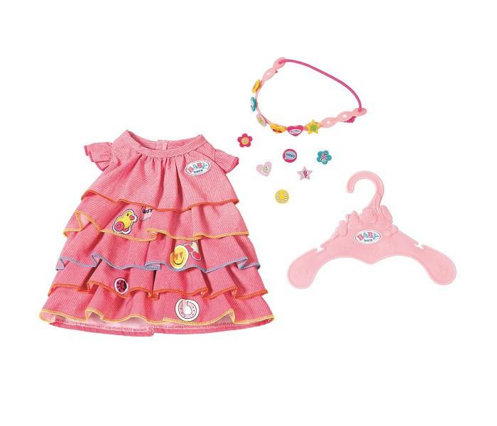 Картинка для Zapf Creation Baby born Платье и ободок-украшение