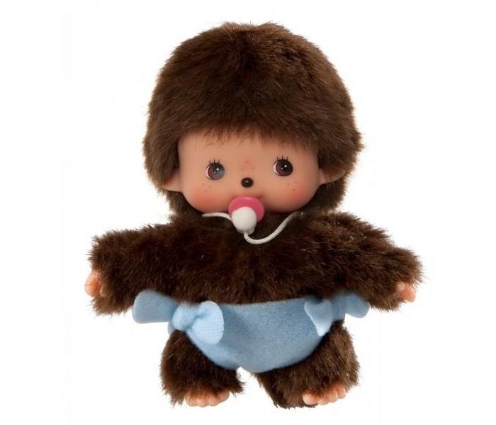 Купить Мягкие игрушки, Мягкая игрушка Monchhichi Мальчик в подгузнике 15 см