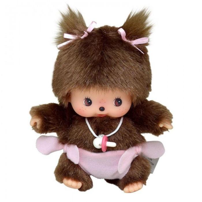 Купить Мягкие игрушки, Мягкая игрушка Monchhichi Девочка в подгузнике 15 см