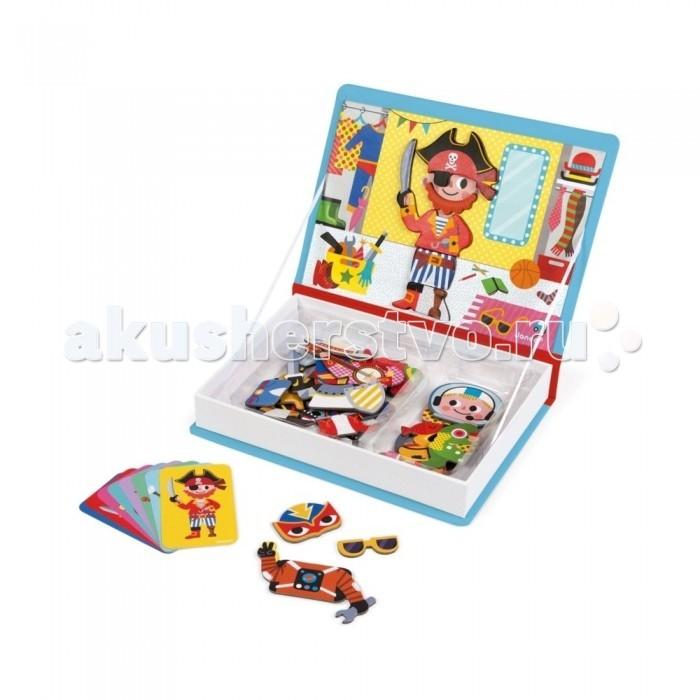 Janod Книга-игра Мальчики в костюмах магнитная