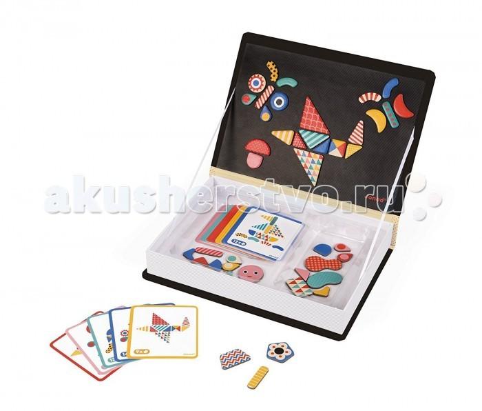 Janod Книга-игра Мозаика в геометрии магнитная J02720