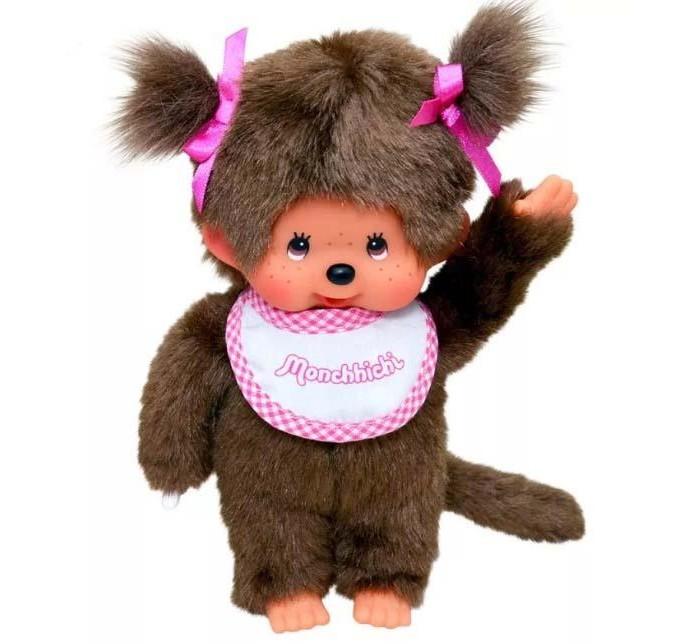 Мягкая игрушка Monchhichi Девочка в слюнявчике 20 см