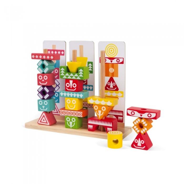 Деревянная игрушка Janod Набор пирамидок Тотемы фото