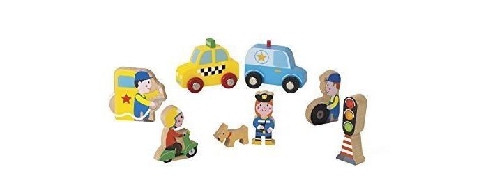 Деревянная игрушка Janod Набор фигурок Маленькие истории Город