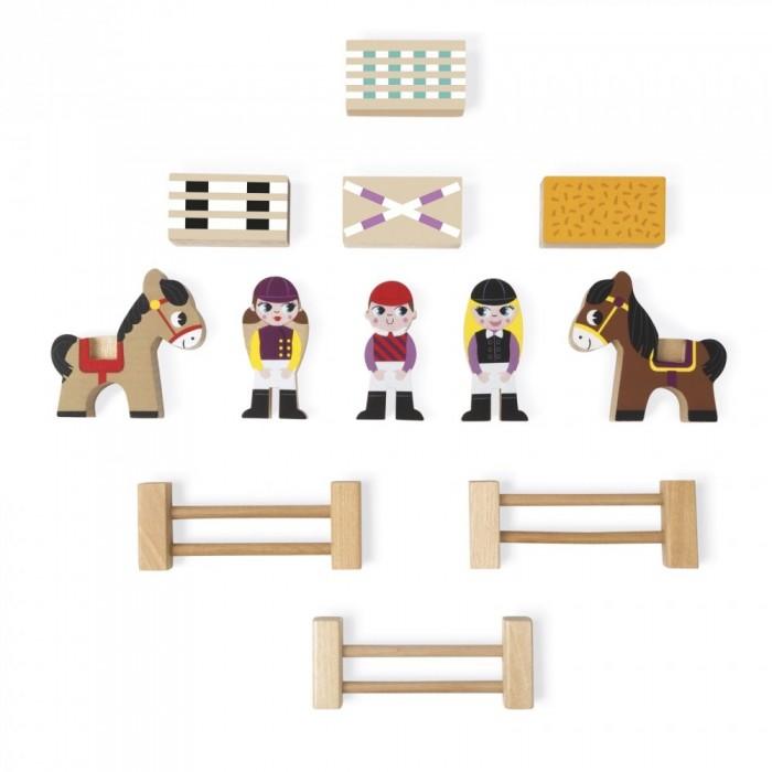 Деревянные игрушки Janod Набор фигурок Маленькие истории Школа верховой езды