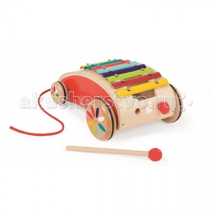 Каталка-игрушка Janod на веревочке Ксилофон J05380