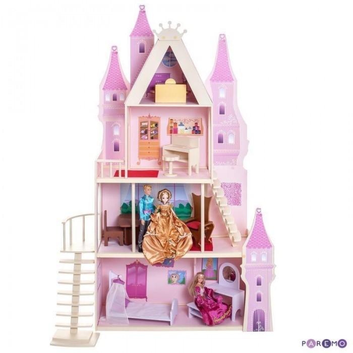 Paremo Летний дворец Барби Розовый сапфир с 16 предметами мебели