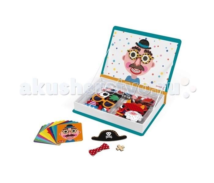 Janod Книга-игра Смешные мальчишки магнитная