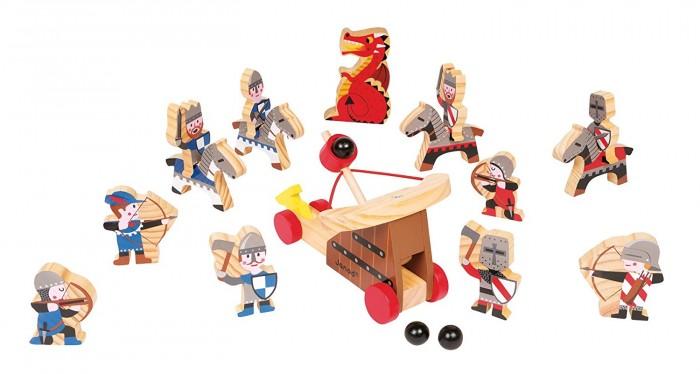 Деревянная игрушка Janod Набор фигурок Рыцари (19 элементов)