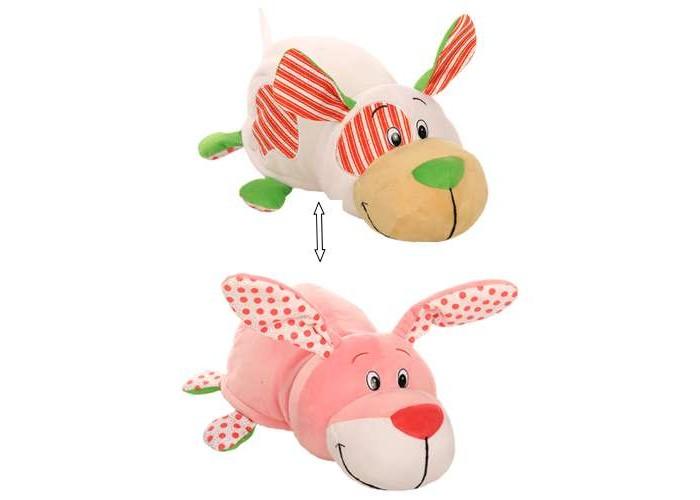 Мягкая игрушка 1 Toy Вывернушка Щеночек и Зайчонок с ароматом жвачки 35 см