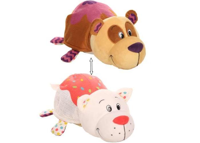 Мягкая игрушка 1 Toy Вывернушка Панда и Кошечка с ароматом 35 см