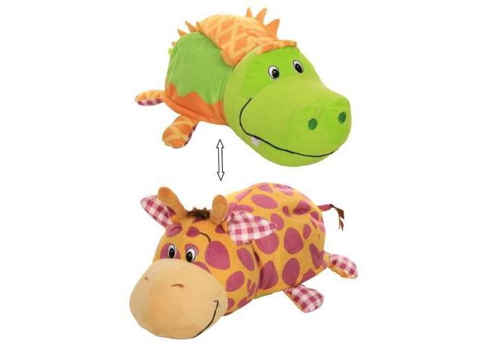 Мягкая игрушка 1 Toy Вывернушка Крокодильчик и Жираф с ароматом 40 см