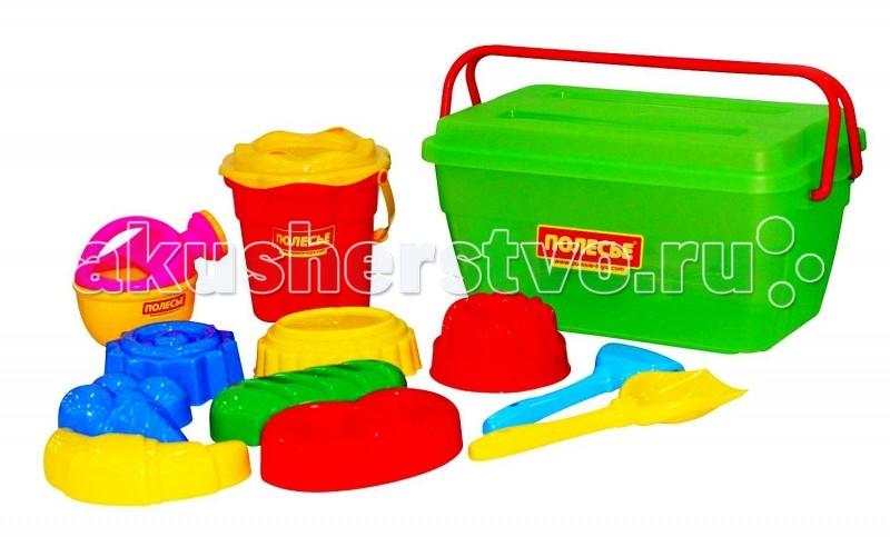 Игрушки в песочницу Wader Набор для песочницы в контейнере 502 песочный набор wader тигрес замок 5 предметов