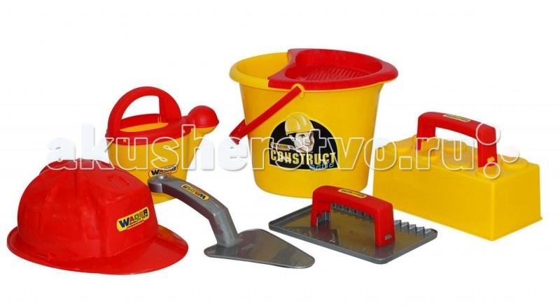 Купить Игрушки в песочницу, Wader Набор каменщика 5 Construct