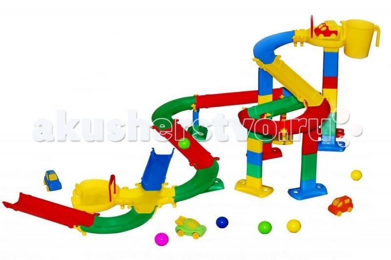 Летние товары , Игрушки в песочницу Wader Набор для песочниц Горка для шариков арт: 62151 -  Игрушки в песочницу