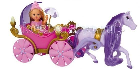 Куклы и одежда для кукол Simba Кукла Еви в карете + лошадь куклы и одежда для кукол simba кукла еви со стильной собачкой 12 cм