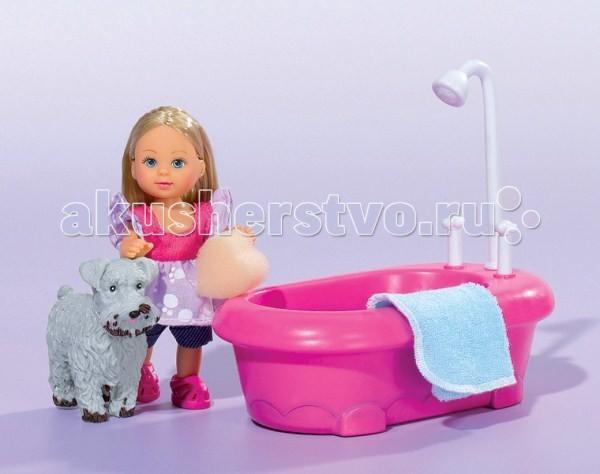 Куклы и одежда для кукол Simba Еви и набор для купания песика