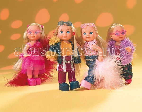 Куклы и одежда для кукол Simba Кукла Еви с боа боа синее